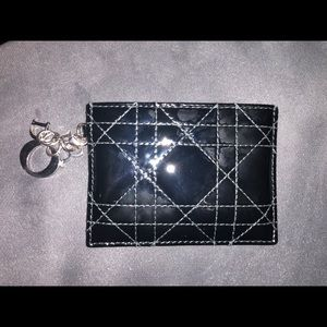 Dior Patent leather card case